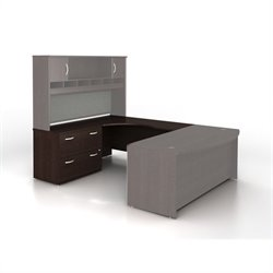 Bush BBF Series C Left-Hand L-Shaped Desk with Lateral File