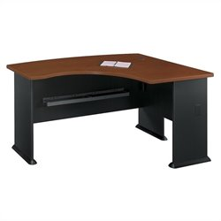 Bush BBF Series A 60W x 44D RH L-Bow Desk Hansen Cherry