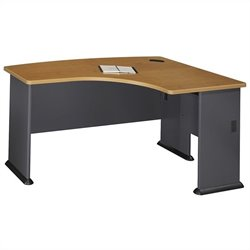 Bush BBF Series A 60W x 44D RH L-Bow Desk in Natural Cherry