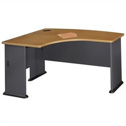 Bush Business Furniture Series A 60x44 LH L-Bow Desk in Natural Cherry
