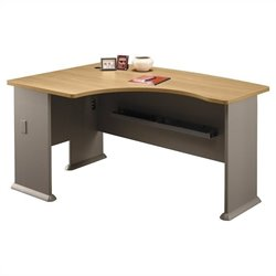 Bush BBF Series A 60W x 44D LH L-Bow Desk in Light Oak
