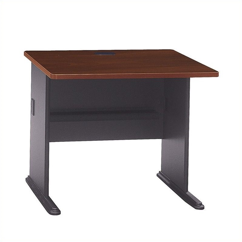 Bush Bbf Series A 36w Desk In Hansen Cherry Wc90436a