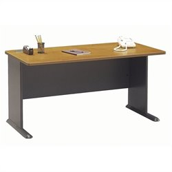 Bush Business Furniture Series A 60W Desk in Natural Cherry