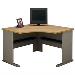 Bush BBF Series A 48W Corner Desk in Light Oak