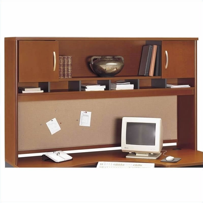 Bush BBF Series C 6-Piece U-Shape Desk in Auburn Maple