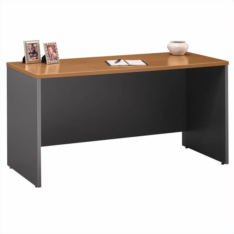 Bush Business Furniture Series C Natural Cherry U-Shaped Desk