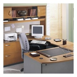 Bush BBF Series C 4-Piece U-Shape Right-Hand Corner Desk in Natural Cherry