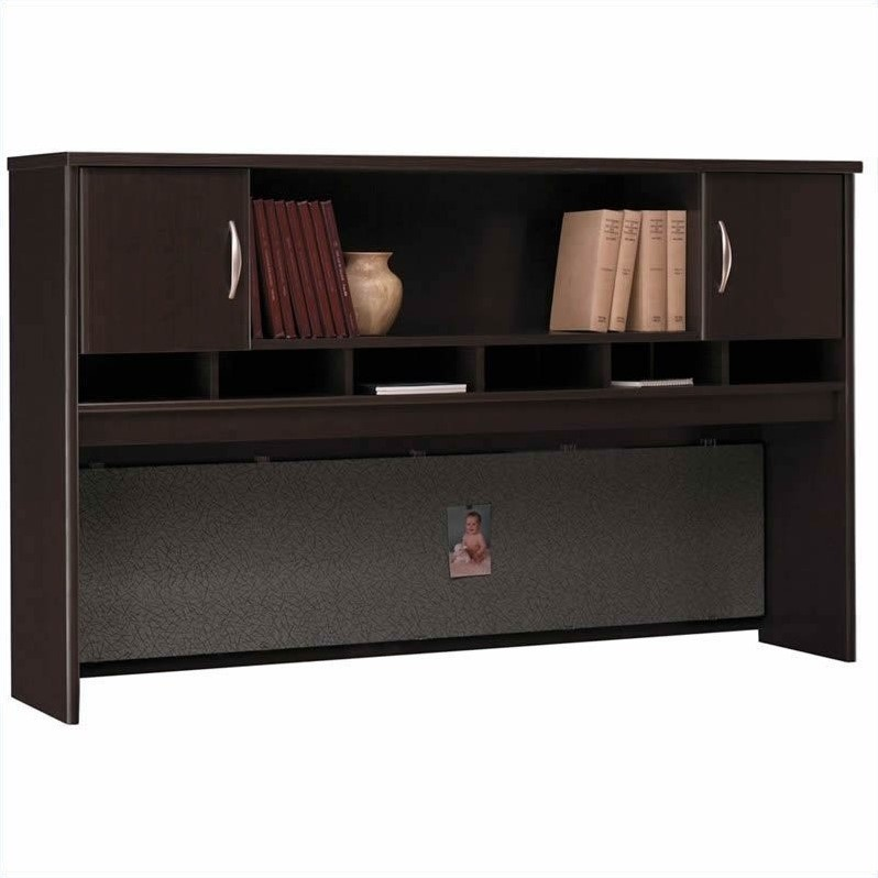 Bush BBF Series C 5-Piece L-Shape Corner Desk with Hutch in Mocha Cherry