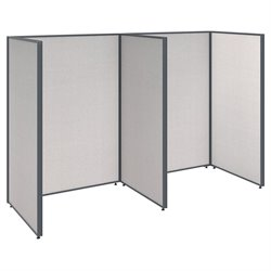 ProPanel 2 Person Open Office Cubicle in Light Gray