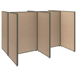 ProPanel 4 Person Open Office Cubicle in Harvest Tan PPC004/5