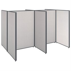 ProPanel 4 Person Open Office Cubicle in Light Gray PPC004/5
