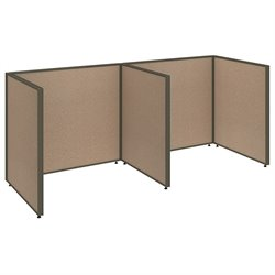 Bush BBF ProPanel 2 Person Open Office Cubicle in Harvest Tan PPC011/012