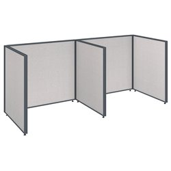 Bush BBF ProPanel 2 Person Open Office Cubicle in Light Gray PPC011/012