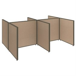 ProPanel 4 Person Open Office Cubicle in Harvest Tan PPC0030/31