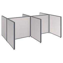 ProPanel 4 Person Open Office Cubicle in Light Gray PPC0030/31