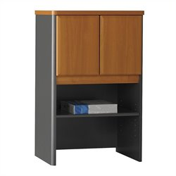 Bush Business Furniture Series A 24W Storage Hutch in Natural Cherry