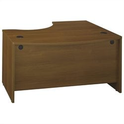 Bush BBF Series C 60W x 43D LH L-Bow Desk Shell in Warm Oak
