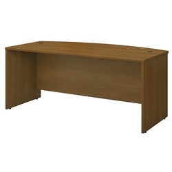 Bush BBF Series C 72W Bow Front Desk Shell in Warm Oak