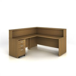 Bush BBF Series C 003 Reception Configuration in Warm Oak