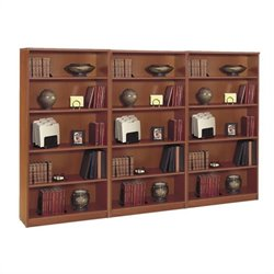 Bush BBF Series C 5 Shelf Wall Bookcase in Auburn Maple