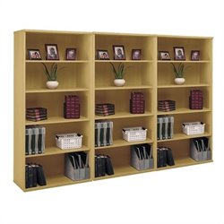 Bush BBF Series C 5 Shelf Wall Bookcase in Light Oak