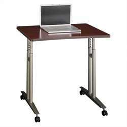 Bush Business Furniture Series C Adjustable Height Table Mahogany