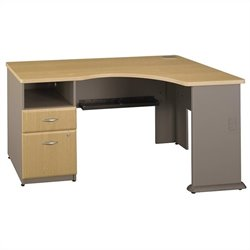 Bush BBF Series A Corner Desk in Light Oak