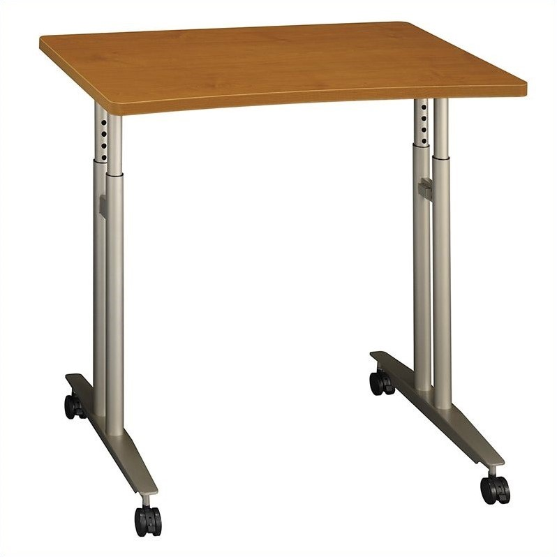 Bush Business Furniture Series C Adjustable Table Natural Cherry