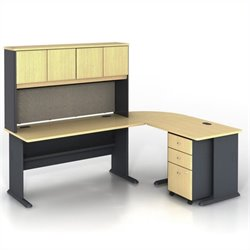 Bush BBF Series A 5-Piece L-Shape Computer Desk in Beech