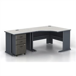 Bush BBF Series A 3-Piece Corner Computer Desk in Slate