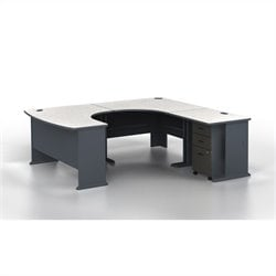 Bush BBF Series A U-Shape Right-Hand Corner Computer Desk in Slate