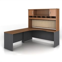 Bush BBF Series C 3-Piece Left-Hand L-Shaped Computer Desk in Auburn Maple