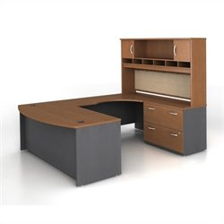 Bush BBF Series C 4-Piece U-Shape Right-Hand Computer Desk in Auburn Maple