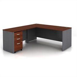 Bush BBF Series C 3-Piece L-Shape Computer Desk in Hansen Cherry