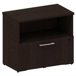 Bush BBF 300 Series 1-Drawer Lateral File in Mocha Cherry