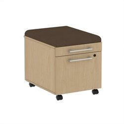Bush BBF 300 Series Mobile Pedestal in Natural Maple and Cocoa