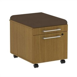 Bush BBF 300 Series Mobile Pedestal in Modern Cherry and Cocoa