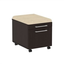 Bush BBF 300 Series Mobile Pedestal in Mocha Cherry and Desert Bluff