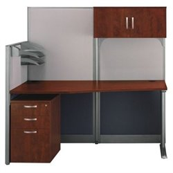 Bush Business Furniture Office-in-an-Hour Hansen Cherry Workstation