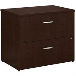 Bush BBF Series C 36W 2Dwr Lateral File (Assembled) in Mocha Cherry