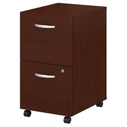 Bush BBF Series C 2Dwr Mobile Pedestal (Assembled) in Mahogany