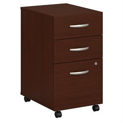 Bush BBF Series C 3Dwr Mobile Pedestal (Assembled) in Mahogany
