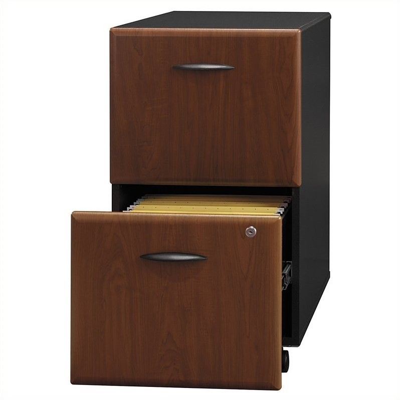 Bush BBF Series A 2Dwr Mobile Pedestal (Assembled) in Hansen Cherry