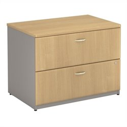 Bush BBF Series A Assembled Lateral File in Light Oak
