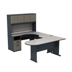 Bush BBF Series A U-Workstation with Hutch in Slate