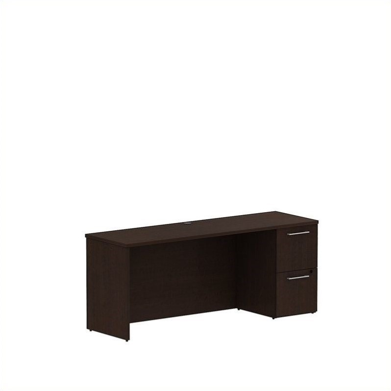 Bush BBF 300 Series 72W x 22D Single Pedestal Credenza Kit in Mocha Cherry