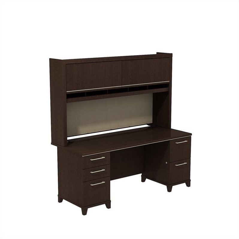 Bush Business Furniture Enterprise Office Set in Mocha Cherry