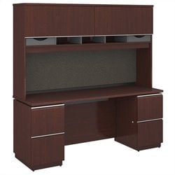 Milano2 72W x 24D Double Pedestal Credenza with Hutch