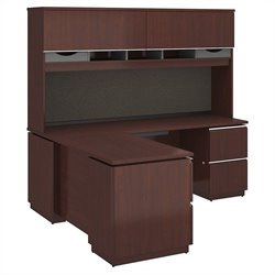 Milano2 72W x 24D Right-Handed L Station with Hutch