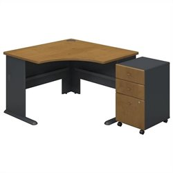 Bush Business Furniture Series A Corner Desk in Natural Cherry